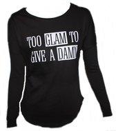Azuka sweatshirt too glam zwart