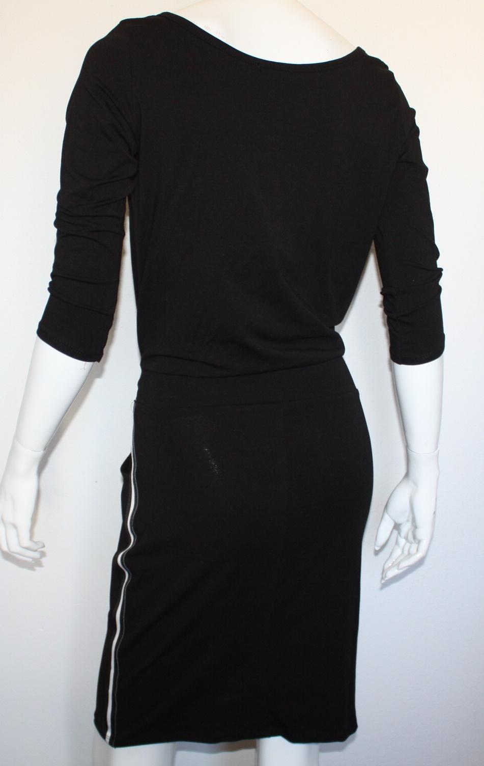 jurk met streep zijkant