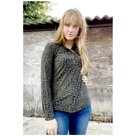 Angelle milan blouse army print