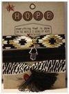 Charity bracelet hair ties aztek zwart hope