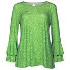 Angelle Milan top groen stip