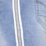 Place du Jour jeans met wit zilver bies_