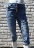 Norfy capri jeans met bies