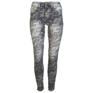 place du jour jeans 98082 grijs Camo print