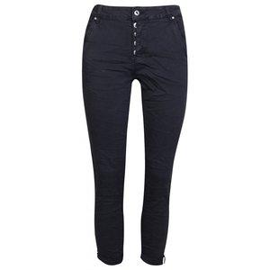 place du jour jeans zwart met omslag