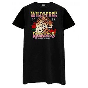Tshirt wild en free zwart