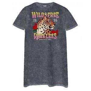 tshirt jurk acid wash wild en free