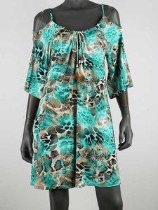 Tuniek jurkje Turquoise