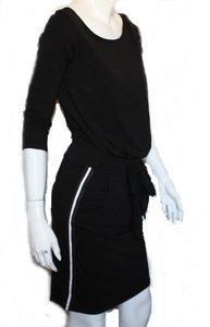 jurk met streep aan zijkant