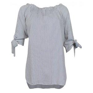 Streep blouse nora donkerblauw