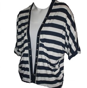 Vest navy wit met opdruk achterkant