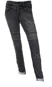 Norfy jeans zwart biker look 1272