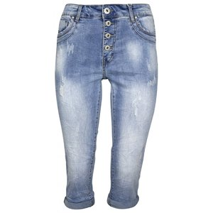 Norfy capri jeans damaged look
