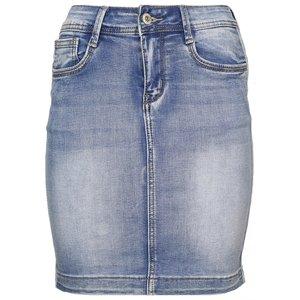 Jeans rokje met bies