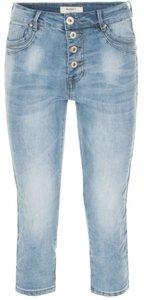 Norfy jeans met zilverkleurige bies