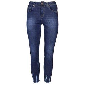 Norfy jeans met rafels aan de onderkant en bies