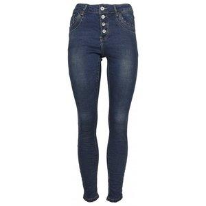 Norfy jeans met knoopsluiting