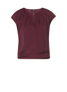 Ivy Beau top bordeaux