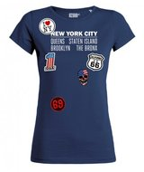 Azuka tshirt new york patches navy