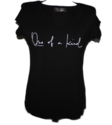 Tshirt pertutti one of a kind zwart