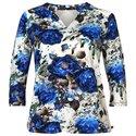 Angelle Milan blauwe bloemen print